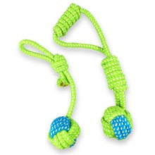 Puppy Dog Toy Cotton Chew Knot Cat Durable Braided Bone Rope Squeak Sound Pet supplies