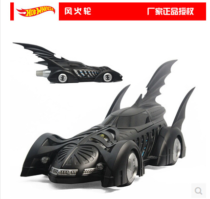 HOT WHEELS 1:18 BATMAN FOREVER Batmobile 1955 Original simulation car model alloy Limited Collection Black  Movie periphery