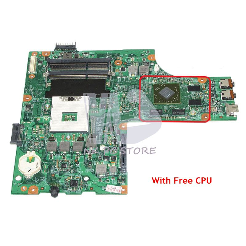 NOKOTION CN-0K2WFF 0K2WFF K2WFF For Dell Inspiron 15R N5010 Laptop Motherboard 48.4HH01.011 HM57 HD4650 Video Card Free CPU nokotion brand new qcl00 la 8241p cn 06d5dg 06d5dg 6d5dg for dell inspiron 15r 5520 laptop motherboard hd7670m 1gb graphics