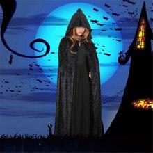 Рождественское нарядное платье худи накидка Pocho для хэллоуина хэллоуин накидка бархатная с капюшоном накидка для Маскарадного костюма для женщин/мужчин