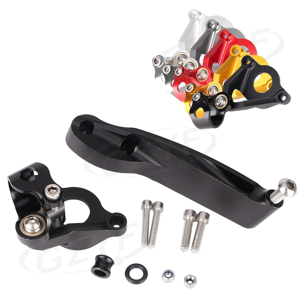 CNC Motorcycle Steering Damper Stabilizer Bracket Mounting Holder Set For Honda CBR600RR CBR 600 RR 2007-2016 Aluminum motorcycle accessories damper stabilizer damper steering for honda cbr f4 cbr 954r cbr1000 cb400 cbr 600 rr cb500f cb 500 cb500