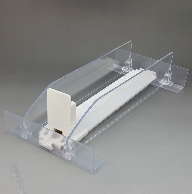 Sample 1 Set Plastic Shelf Cigarettes Automatic Pushing Divider System L 286mm In Supermarket Retail Good Quality