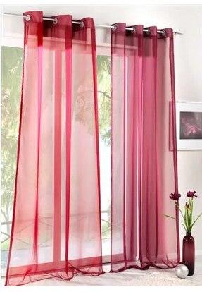 Alta-densidade de fios Janela Telas Terri Wong Personalizado Janelas Do Quarto e Sala Multicolor tule, Pura painel
