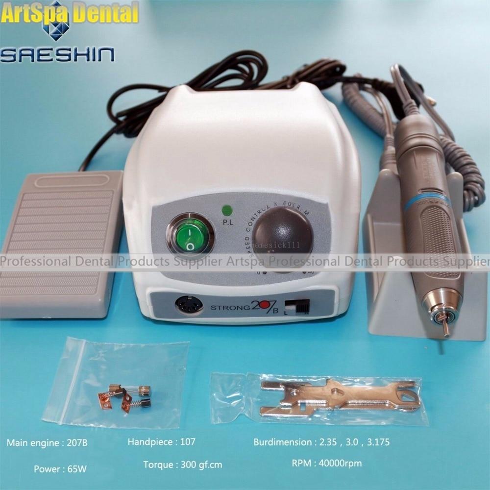 Dental Lab Saeshin STRONG 207A+107 40000 RPM Micro Motor Polishing Handpiece Dental Lab Equipment недорого