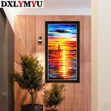 5D Diamond Mosaic Full Embroidery Sailing Voyage Picture 3D Diy Painting Cross Stitch Square Sets