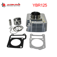 Alconstar 57.4mm Motorcycle Engine Cylinder Kit For Yamaha YBR125 Modified to YBR150 125cc Upgrade to 150cc Engine Parts