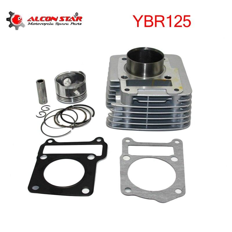 Alconstar-Kit de cylindre de moteur de moto 57.4mm pour Yamaha YBR125 modifié pour YBR150 125cc mise à niveau vers 150cc pièces de moteur
