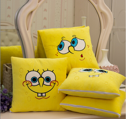 Image 4 - 1pcs 34*34cm Cartoon Sponge Bob Plush toys Soft Spongebob Pillow Cushion  Four models Can be Selected  Kids Toys-in Stuffed & Plush Animals from Toys & Hobbies