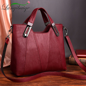Image 1 - 2020 NEW Women Shoulder Messenger Bag Luxury Leather Handbags Women Bags Designer Famous Brand Female Crossbody Bags Sac A Main