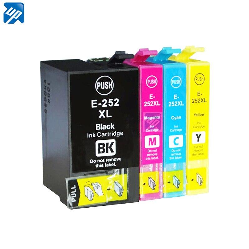 US $21 83 5% OFF 12 x 252 252XL 254XL Ink Cartridge Compatible for epson  Workforce WF3620 WF3640 wf7610 WF7110 WF7620 WF 7620 WF 7110 Printer-in Ink