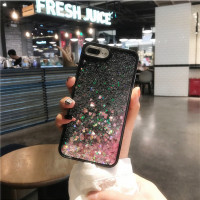 Anti Knock Love Heart Glitter Stars Dynamic Liquid Quicksand Soft TPU Phone Back Cover Case For