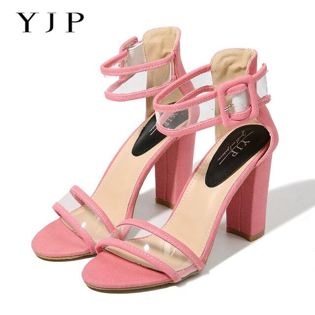 zapatos de baile con tacones altos de color oro de mujer zapatos dedos señados con detalles de hebilla k96eS