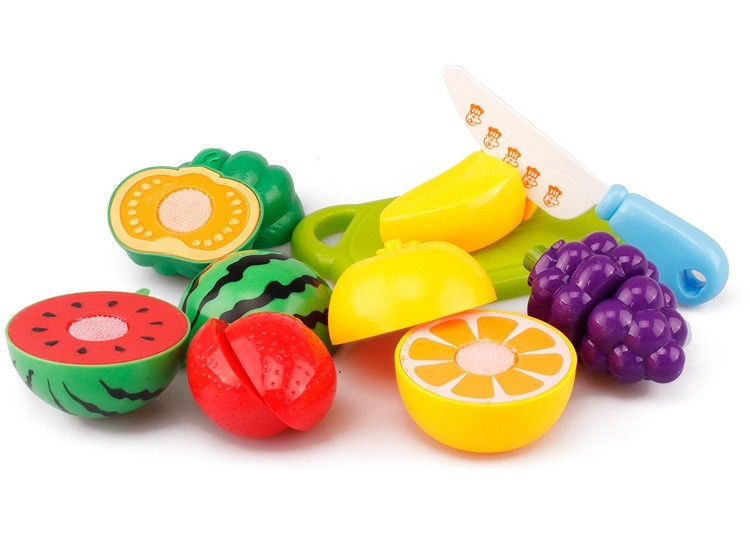 8pcs/lot Cutting Fruit Vegetable Pretend Food Dishes Toys Kitchen for Children