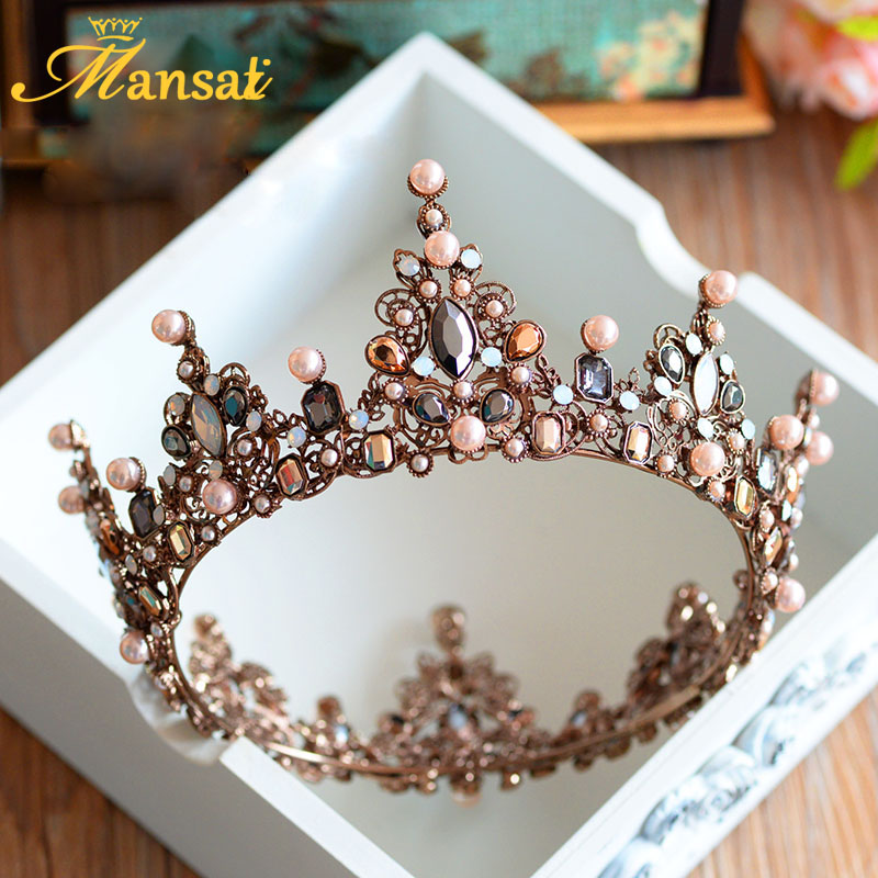 Hot Sale Hot Sale Luxury Vintage Tiara Crown Queen Tiaras Round