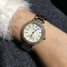 Relojes de pulsera A Prueba de agua Relojes de Cuarzo Relojes de Lujo de Alta Calidad de Las Mujeres Relojes de Pulsera de Acero Inoxidable De Vidrio