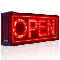 P10 Red Outdoor Waterproof Double sided Led Sign for Storefront Message Board, Programmable Scrolling Display Business Tools