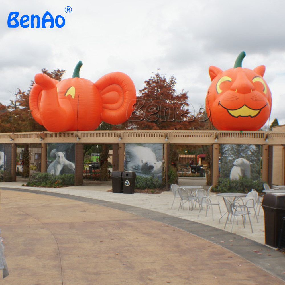 Z389 Halloween inflatable cartoon character inflatable yard decoration pumpkin,inflatable Animal Pumpkins for 1pc with blower plastic standing human skeleton life size for horror hunted house halloween decoration