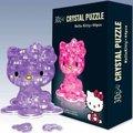 Новое поступление горячая распродажа 3D кристалл пластиковые игрушки привет котенок модель DIY смешная игра творческий подарок 1 шт.