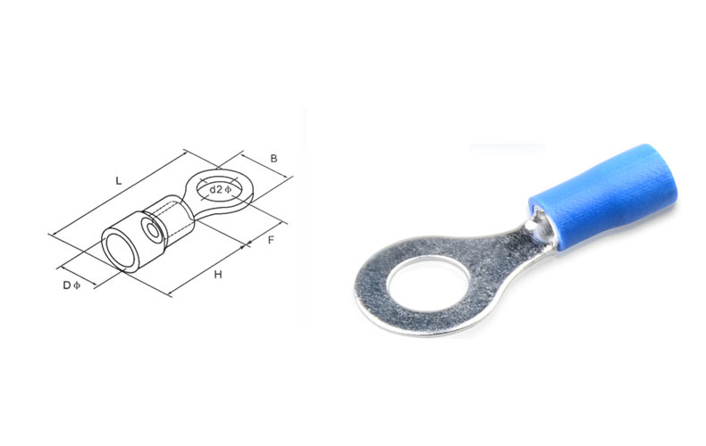 Rv2 6 insulated 1614mm awg electrical circular crimp terminal cable 3 greentooth Image collections