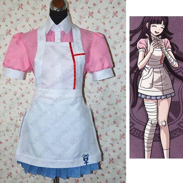 Anime Super DanganRonpa 2 Mikan Tsumiki Cosplay Costume Custom Made