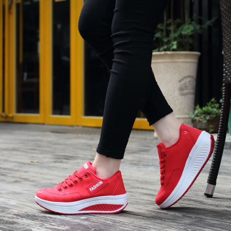 PINSV Sneakers Women Platform Shoes Women Sport Running Shoes Thick Bottom Ladies Wedges Running Outdoor Krasovki Women Sneakers