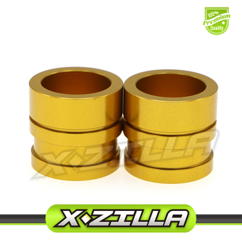 Gold Motorcycle CNC Front Wheel Hub Spacers For RMZ250 2007-2018 RMZ450 2005-2018 RMX450Z 2010-2017