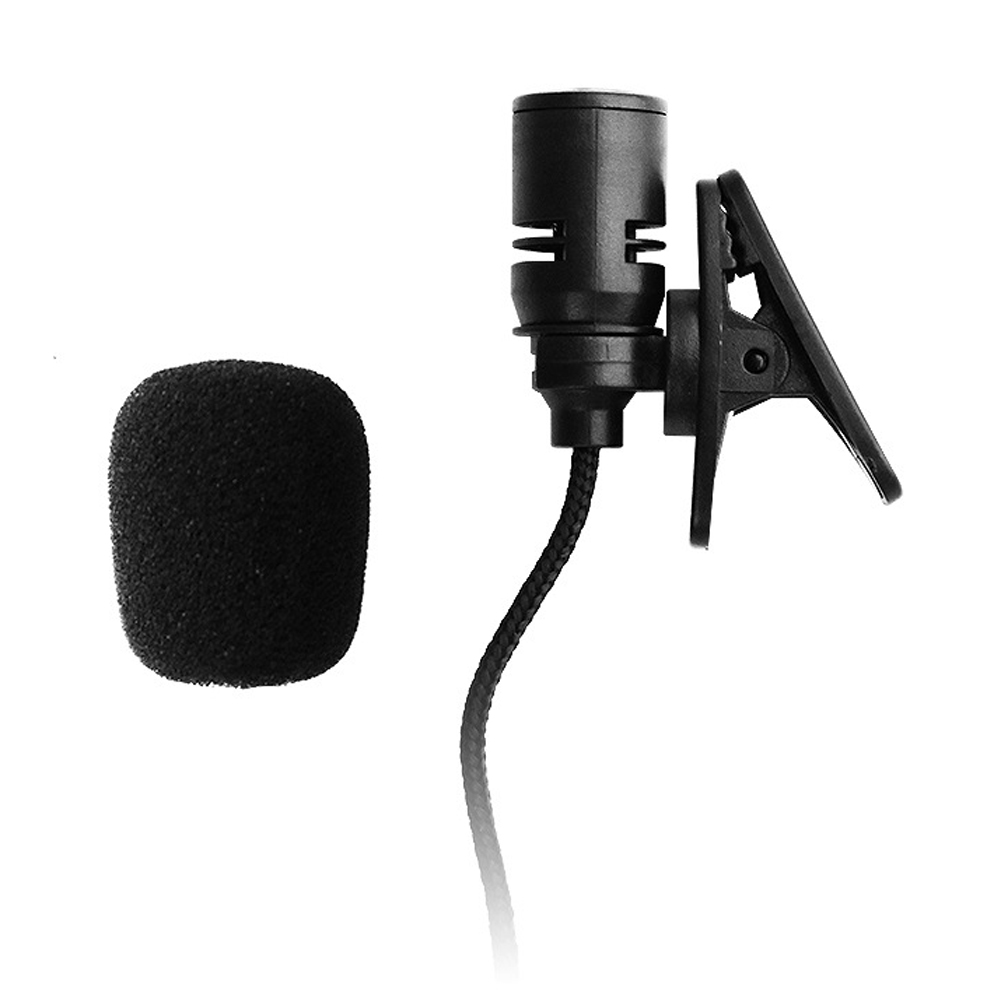 Unidirectional Back Electret Type 3.3FT 3.5mm Mono Mic Braided Wire Lavalier Lapel Tie Clip-On Microphone With Bending Plug