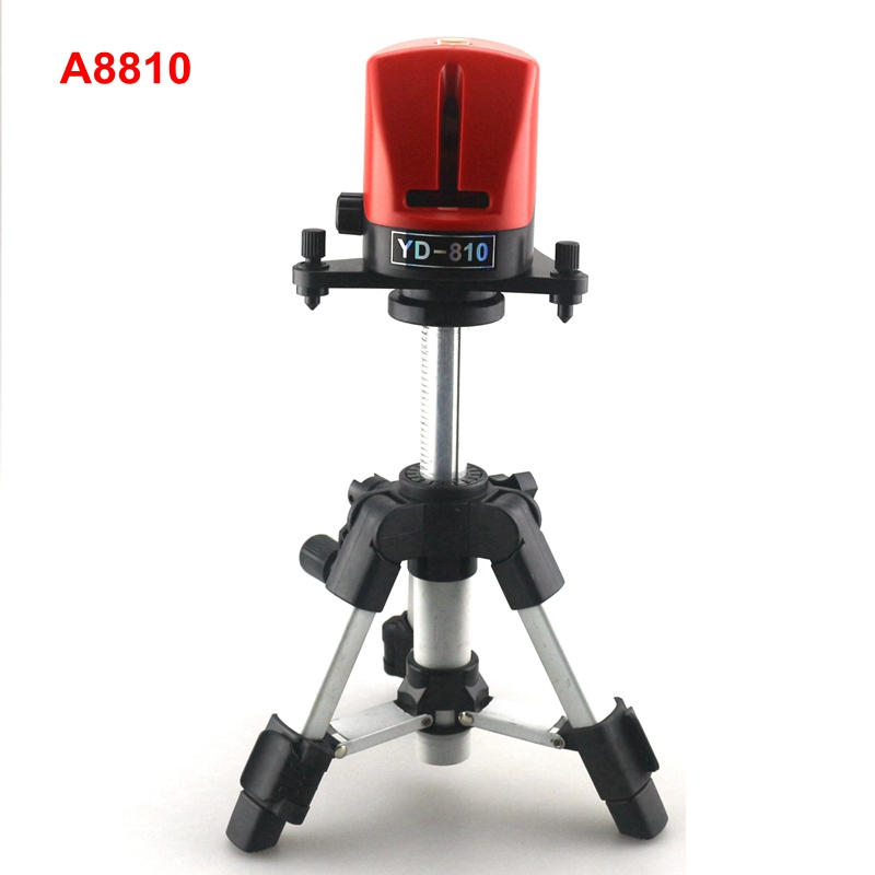 ACUANGLE A8810 YD-810 Laser Leveling Instrument 360 Self-leveling 2 Line Cross Red Line Laser Level with AT280 Tripod 100mw650nm cross red laser head high power red positioning marking instrument high quality