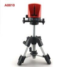 AcuAngle A8810 YD-810 Poziomowanie Instrumentu 360 samopoziomujący Laser Niwelator Laserowy 2 Linii Krzyż Czerwona Linia z AT280 Statywu