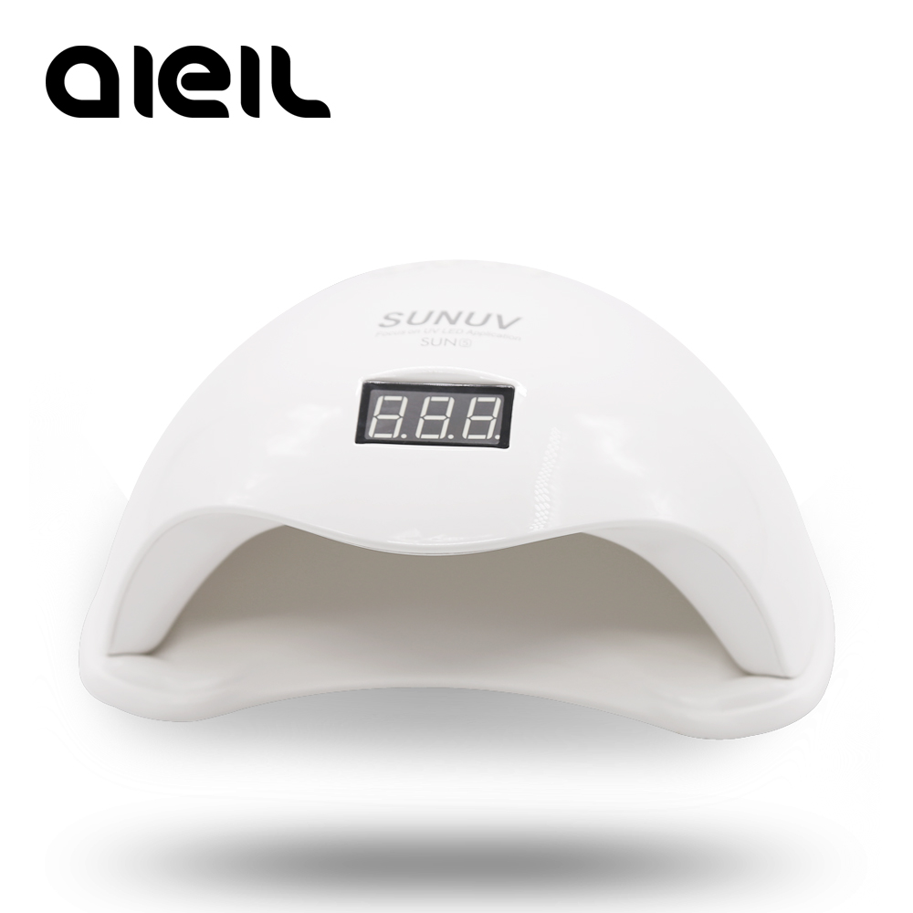 Lamp For Nails Uv Lamp Led Nail  Nail Dryer Lamp Nail Drying For All Gels SUN5 Smart 2.0 48W Digital Timer Display SUNUV Sunone mdskl 48w led uv lamp nail dryer self clocking a minute of rapid drying golden electric nail art tools exemption from postage