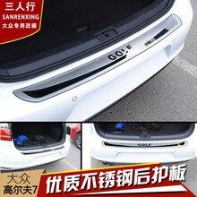 Высокое качество нержавеющая сталь задняя панель подоконника, Задний бампер протектор Подоконник для Volkswagen Golf 7 MK7 2012- автостайлинг
