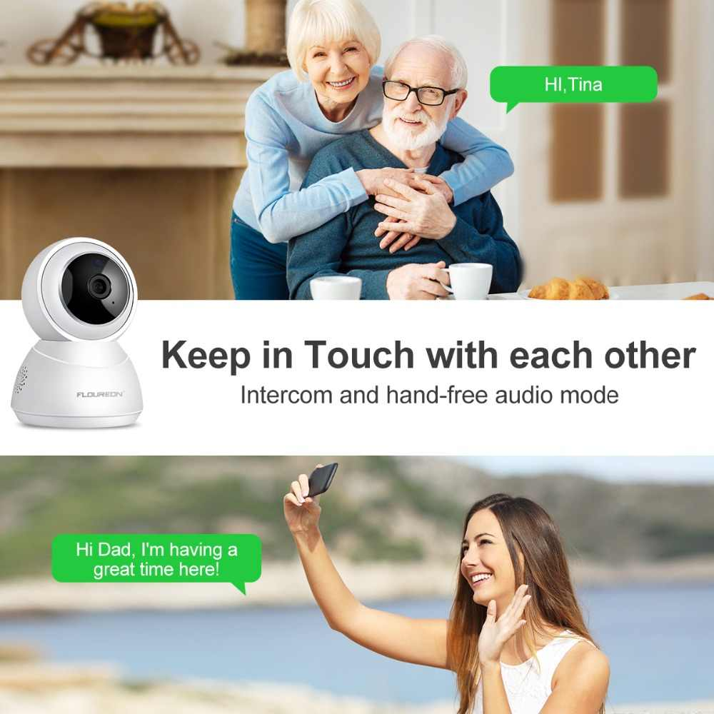 FLOUREON YI Cloud Storage IP Camera 1080P HD 2 0MP Night Vision PTZ Smart  Baby Crying Detection Monitor Home Surveillance Camera