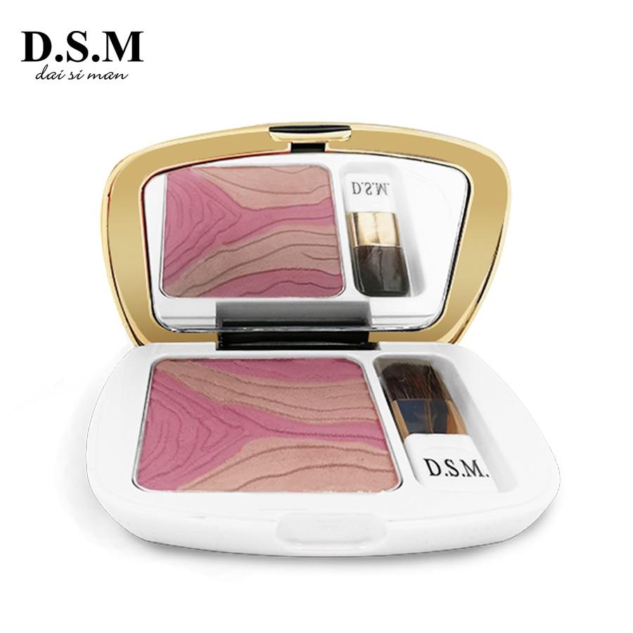 D.S.M Multi-cor de Blush Maquiagem de Longa-duração fácil de Desgaste Natural Cosméticos Facial Maquiagem Blush Blush Alta Qualidade tons