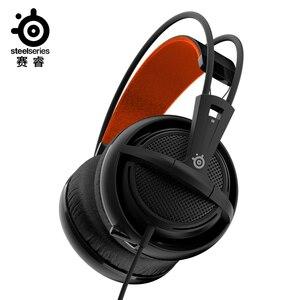 Image 1 - Steelseries fone de ouvido siberia 200, fone de ouvido para jogos durável original com microfone, frete grátis