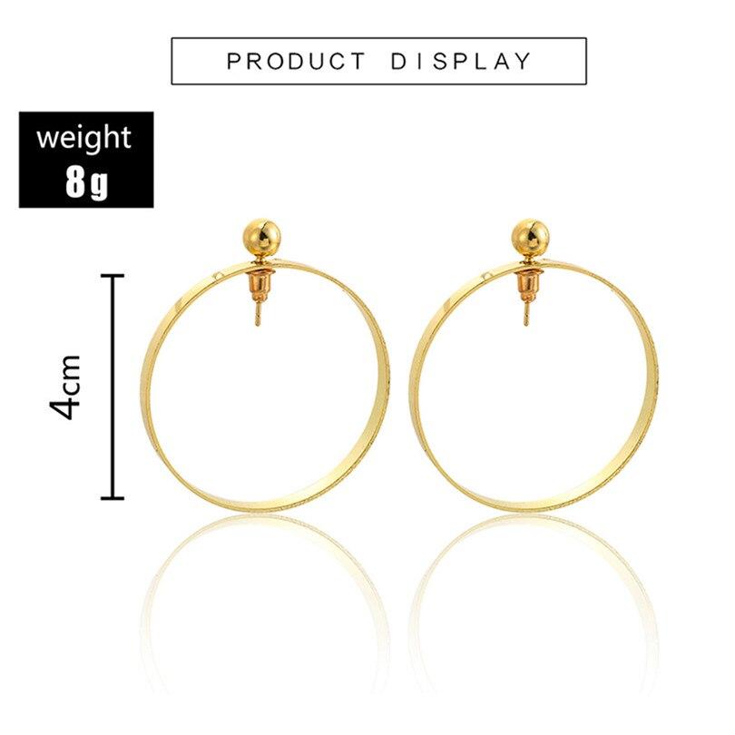 Big Round Earrings For Women Fashion Hollow Earrings Women Fashion Retro Big Circle Bead Pendant Alloy Earring Bijoux 30JUL164