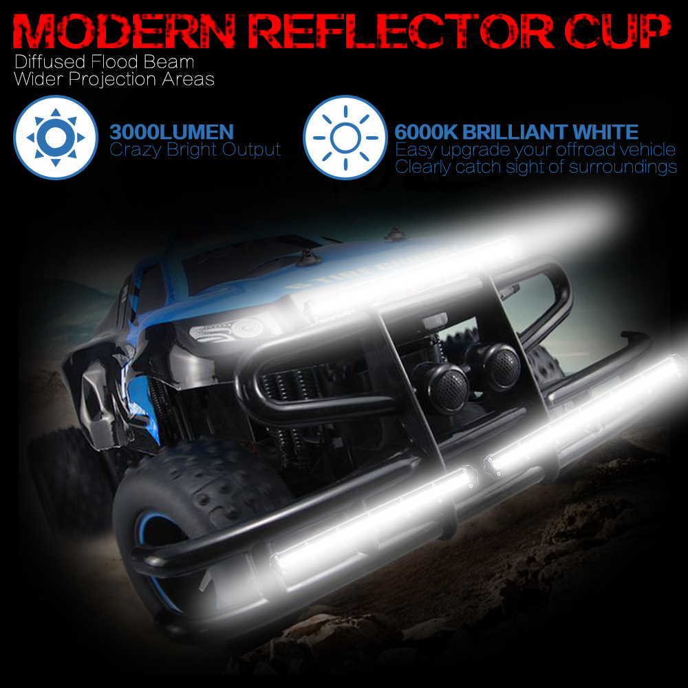 Image 5 - 13 inch 6000Lm 36W Car Led Light Barra Bar Work Fog lights Offroad Motorcycle Spotlight For Boats Jeep Truck Street Lamp SUV atv-in Light Bar/Work Light from Automobiles & Motorcycles