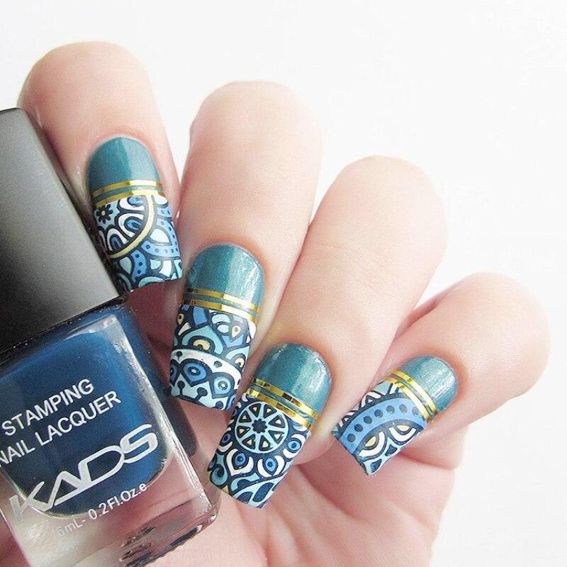 Kads Hot Fashion Nail Art Print Lacquer Deongaree Color Nail