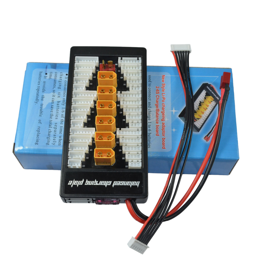 HotRc hot rc T-plug Deans Charge Board XT60 Parallel Charging Adapter Board 2-6s Lipo Batteries Charger Plate For Imax B6 B6AC