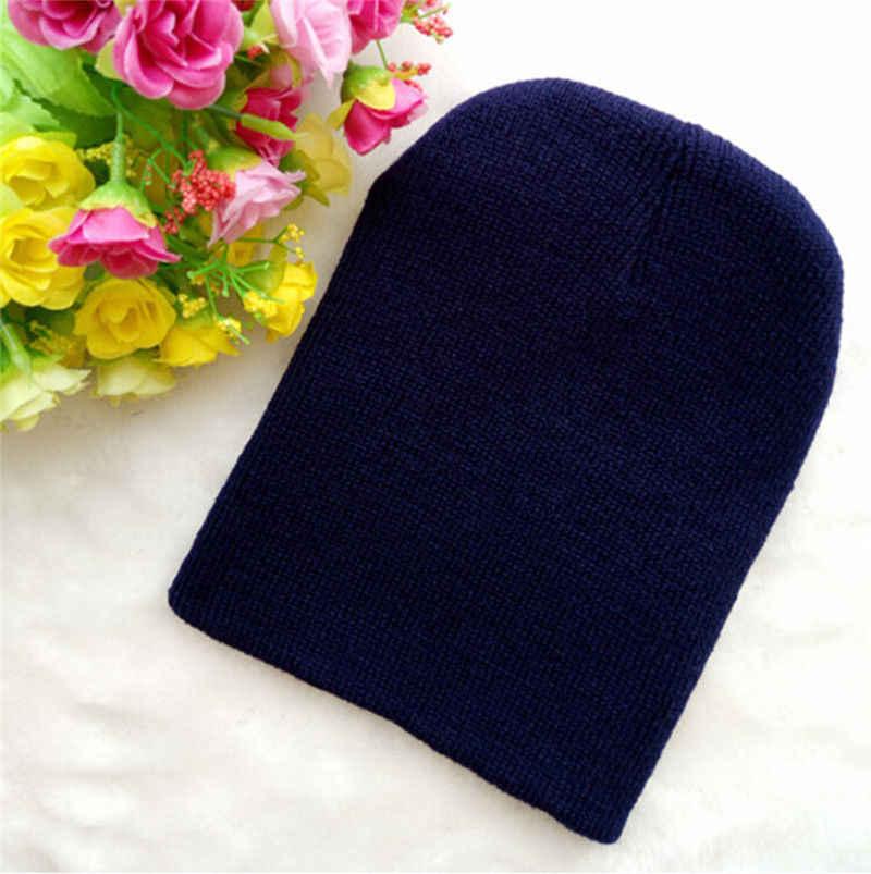 2018 เด็กใหม่หมวก Beanies ฤดูหนาวเด็กผู้หญิงเด็กวัยหัดเดินเด็กทารกเด็กน่ารักหมวกหมวก Unisex ถัก beanie ของขวัญ