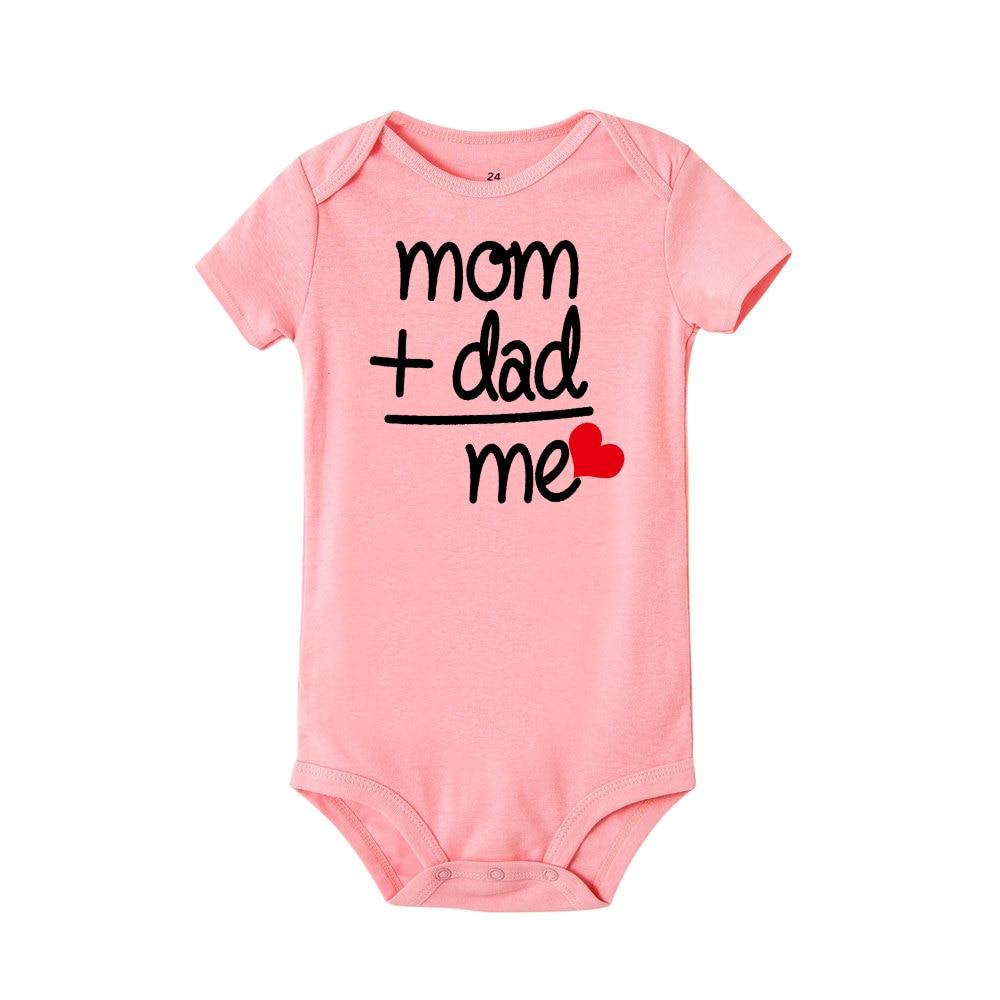 HTB1KUC0JMHqK1RjSZFEq6AGMXXaV 8 COLORS Newborn Toddler Baby Boy Girl Dad +Mom Outfit Costume Romper short sleeve Clothes Baby girl roupa de bebe 0-24M
