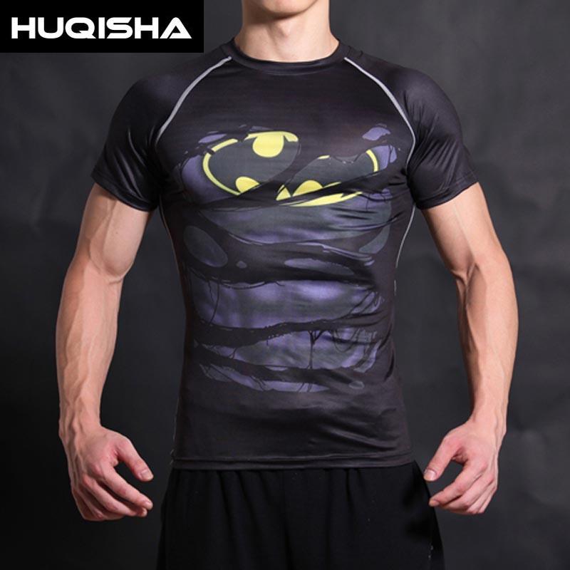 Бэтмен Футболка Капитан Америка - Мужская одежда