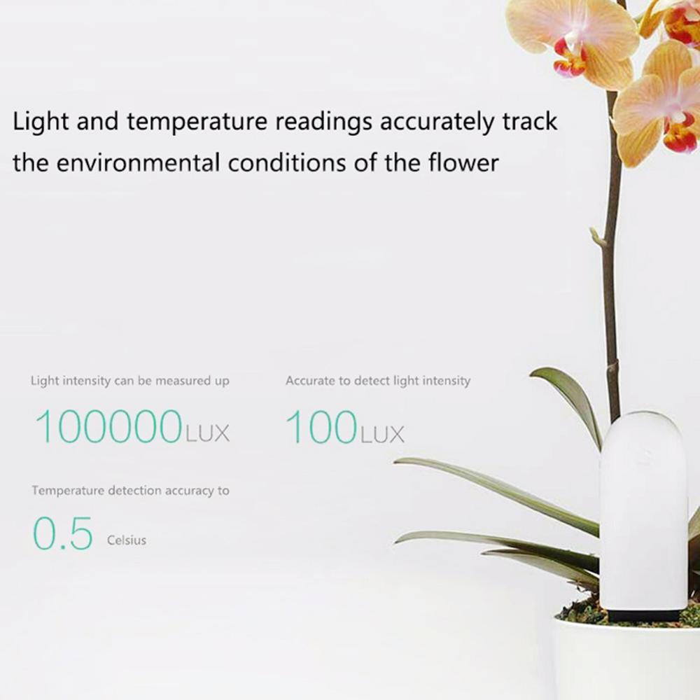 Xiao mi mi fleur moniteur numérique plantes herbe flore soin sol Hu mi dité lumière de l'eau nutriment Temp détecteur intelligent testeur capteur - 3