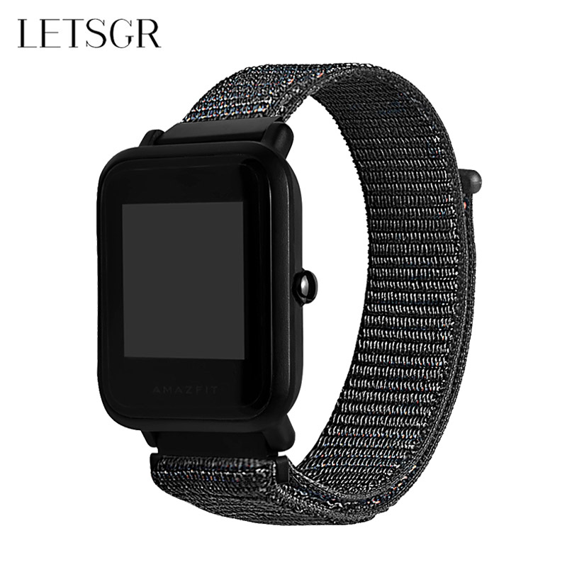 LETSGR Replacement Nylon Strap for Amazfit Bip Bit Youth Smart Watch Band for Xiaomi Huami Amazfit Bip Amazfit Bit Pace Strap