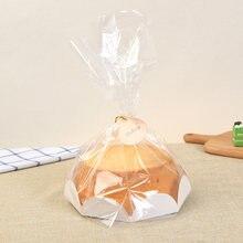 Saco de plástico para bolo em 6/8, saco de embalagem para bolo, festa de aniversário em casa, embalagem de chiffon com bandeja de papel, saco de cozimento puff, com 10 peças biscoito dos doces