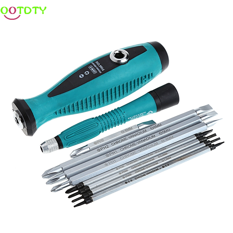 10 Pcs Slit Sets Magnetic Screwdriver Repair Multi Function Multi Hand Tool Set T15  828 Promotion