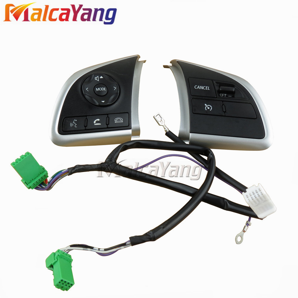 Interruptor de Controle de Cruzeiro volante Auto Peças De Reposição de telefone botões no volante Para Mitsubishi Outlander (2013-2015) preto