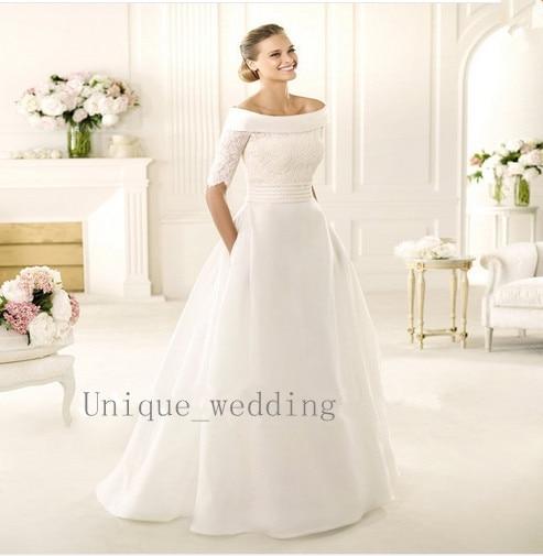 vestido de novia media manga – vestidos de boda