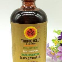Black castor oil hair and eyelash growth oil 8oz( free bottle)