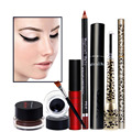 Pro Eye Makeup Kit Charming Color Eyeliner Eyebrow Pencil Long-lasting Lip Gloss Lipliner Pencil Lengthening Eyelash Mascara Set