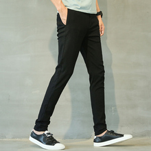 Linen Pants Mens Lightweight Summer Slim Fit Stretch Men Clothes 2018 Korean Street Style Fashion Casual Skinny Trousers Male 38